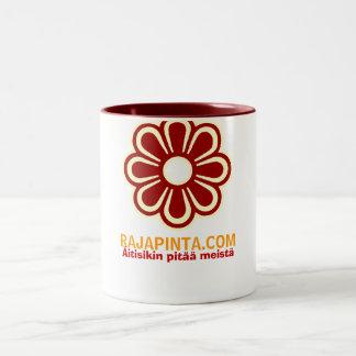 Rajapinta.com Kahvinpidike Two-Tone Coffee Mug
