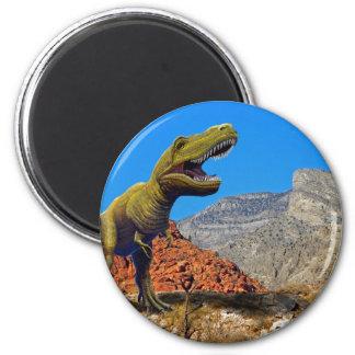 Rajasarus Dinosaur 2 Inch Round Magnet