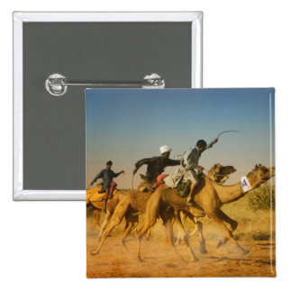 Rajasthan, India camel races in the Thar Desert 2 Inch Square Button