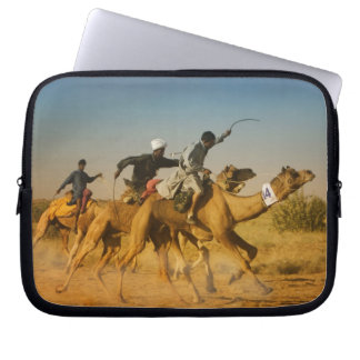 Rajasthan, India camel races in the Thar Desert Computer Sleeve