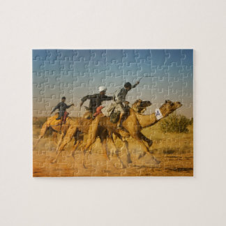 Rajasthan, India camel races in the Thar Desert Jigsaw Puzzle