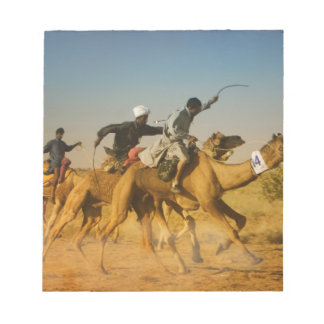 Rajasthan, India camel races in the Thar Desert Notepad