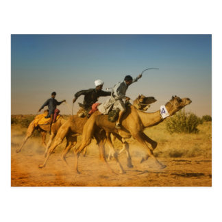 Rajasthan, India camel races in the Thar Desert Postcard