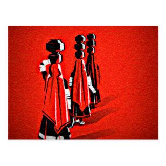 Rajasthani Girls Postcard