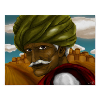 Rajasthani man looks into your soul! poster
