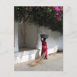 Rajasthani Woman in Udaipur Postcard