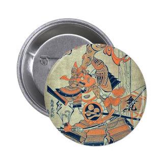 Rajomon by Torii, Kiyonobu Ukiyoe Pinback Button