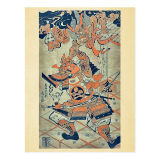 Rajomon por Torii, Kiyonobu Ukiyoe Postal