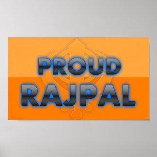 Rajpal orgulloso orgullo de Rajpal Poster