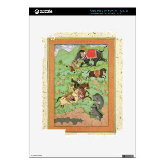 Rajput princes hunting bears; a mahout and his ele iPad 3 skin