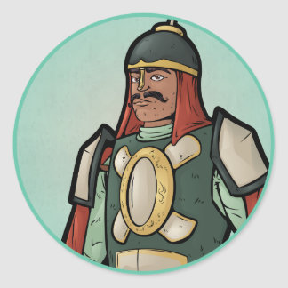 Rajput Warrior Classic Round Sticker