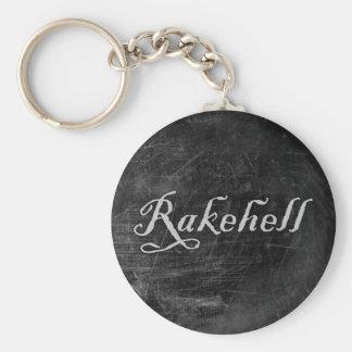 Rakehell Basic Round Button Keychain