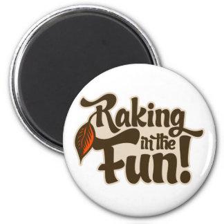 Raking in the Fun Fridge Magnets