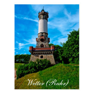 Raking local tower postcard