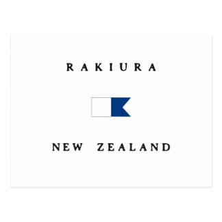 Rakiura New Zealand Alpha Dive Flag Postcard