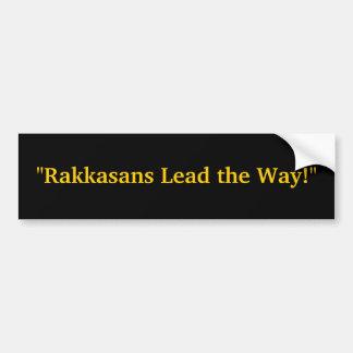 """Rakkasans Lead the Way!"" Car Bumper Sticker"