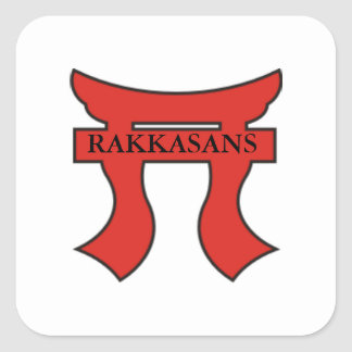 RAKKASANS On Torri Square Sticker