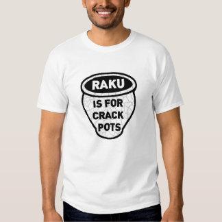 Raku está para los alfareros de los potes de la camisas