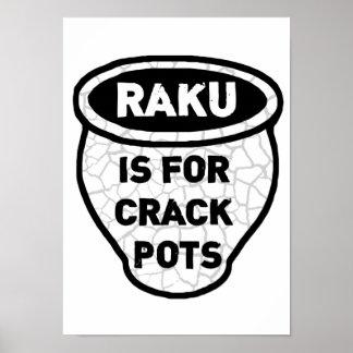 Raku está para los alfareros de los potes de la gr póster