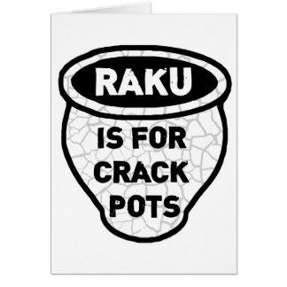 Raku está para los alfareros de los potes de la tarjeta pequeña