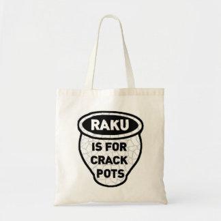 Raku is for Crack Pots Potters Bags