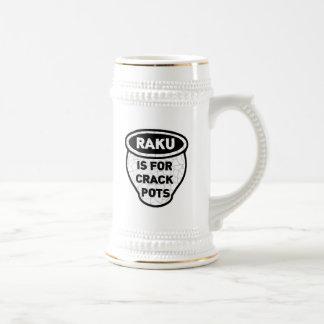 Raku is for Crack Pots Potters Beer Stein