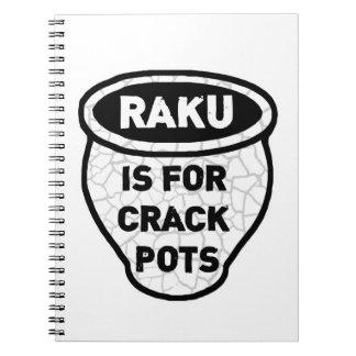 Raku is for Crack Pots Potters Notebook