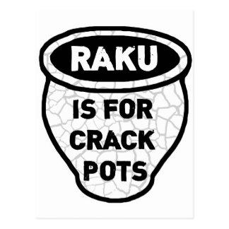 Raku is for Crack Pots Potters Postcard