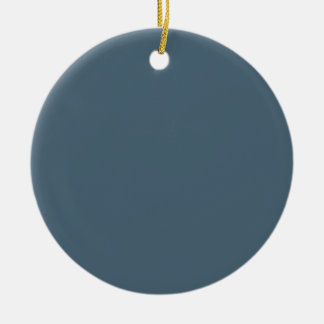 Raleigh Blue Background. Chic Fashion Color Trend. Double-Sided Ceramic Round Christmas Ornament