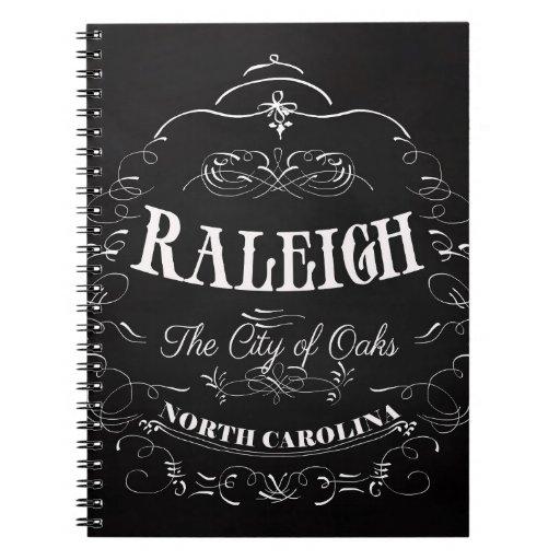 Raleigh, Carolina del Norte - la ciudad de robles Libretas