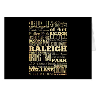 Raleigh City of North Carolina State Typography Card
