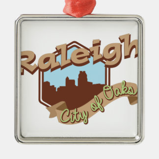 Raleigh City Of Oaks Metal Ornament