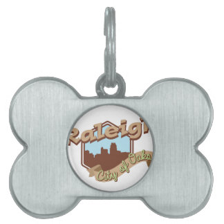 Raleigh City Of Oaks Pet Name Tag