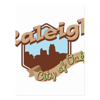 Raleigh City Of Oaks Postcard