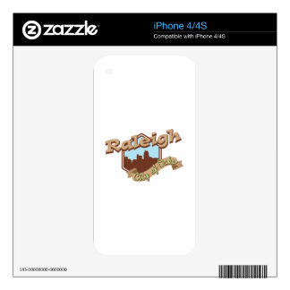 Raleigh City Of Oaks Skin For iPhone 4S