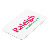 "Raleigh Established 3""x4"" Flexible Photo Magnet"