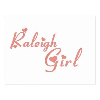 Raleigh Girl tee shirts Postcard