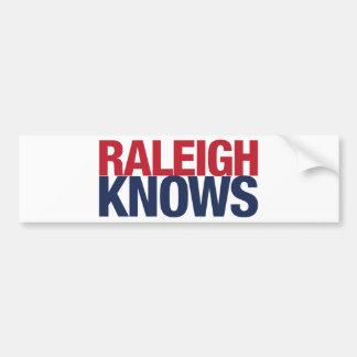 Raleigh Knows Bumper Sticker