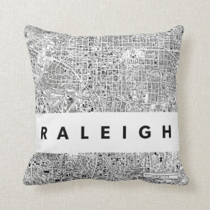 Raleigh North Carolina Decorative Throw Pillows Zazzle