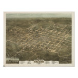 Raleigh N. Carolina 1872 Antique Panoramic Map Posters