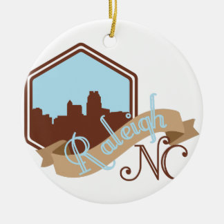 Raleigh NC Ceramic Ornament