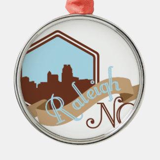 Raleigh NC Metal Ornament