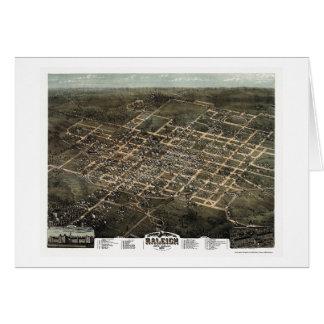 Raleigh, NC Panoramic Map - 1872 Greeting Card