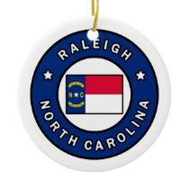 Raleigh North Carolina Ceramic Ornament