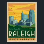 "Raleigh, North Carolina | City of Oaks Postcard<br><div class=""desc"">Anderson Design Group is an award-winning illustration and design firm in Nashville,  Tennessee. Founder Joel Anderson directs a team of talented artists to create original poster art that looks like classic vintage advertising prints from the 1920s to the 1960s.</div>"