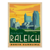 Raleigh, North Carolina | City of Oaks Postcard