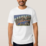 Raleigh, North Carolina - Large Letter Scenes 2 T-Shirt