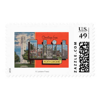 Raleigh, North Carolina - Large Letter Scenes Postage