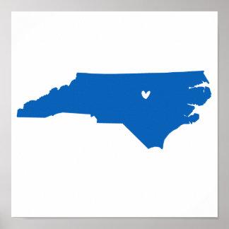 Raleigh, North Carolina Love Poster