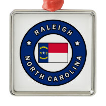 Raleigh North Carolina Metal Ornament